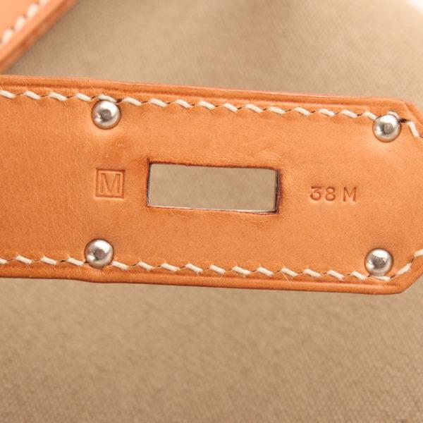 Imagen de la referencia de la bolsa de viaje hermès haut à courroies lona militar verde piel natural