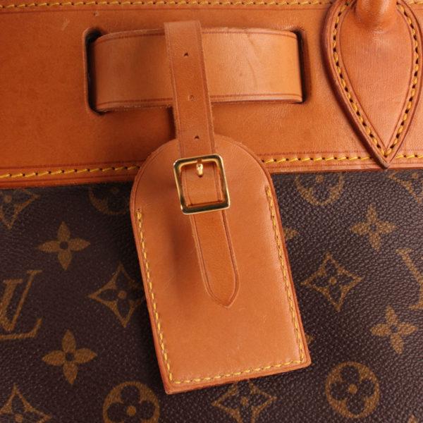 Imagen de la etiqueta de viaje de la bolsa de viaje louis vuitton steamer bag 45 monogram piel natural