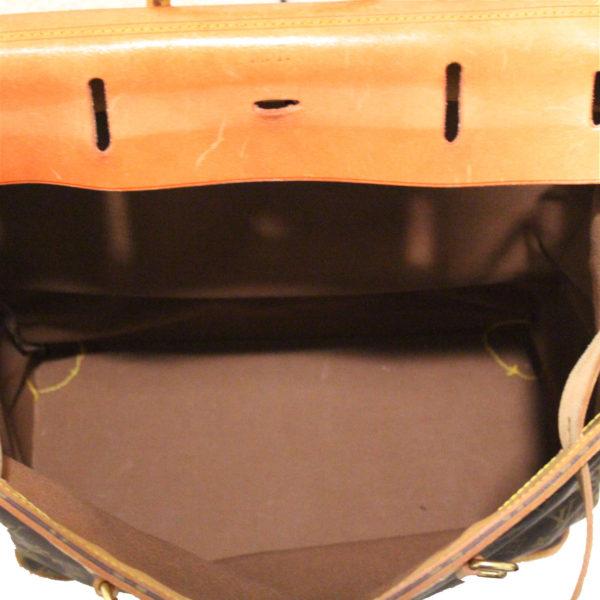 Imagen del forro de la bolsa de viaje louis vuitton steamer bag 45 monogram piel natural