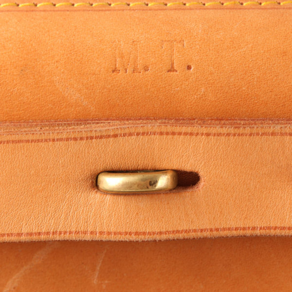 Imagen de las iniciales de la bolsa de viaje louis vuitton steamer bag 45 monogram piel natural