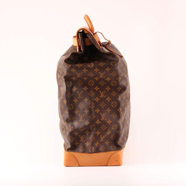 Imagen del lado 1 de la bolsa de viaje louis vuitton steamer bag 45 monogram piel natural