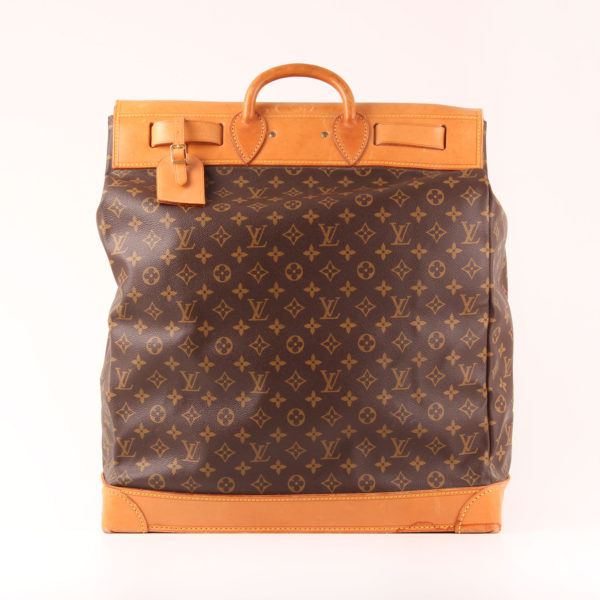 Imagen trasera de la bolsa de viaje louis vuitton steamer bag 45 monogram piel natural
