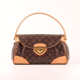 Imagen frontal del bolso al hombro louis vuitton beverly mm monograma