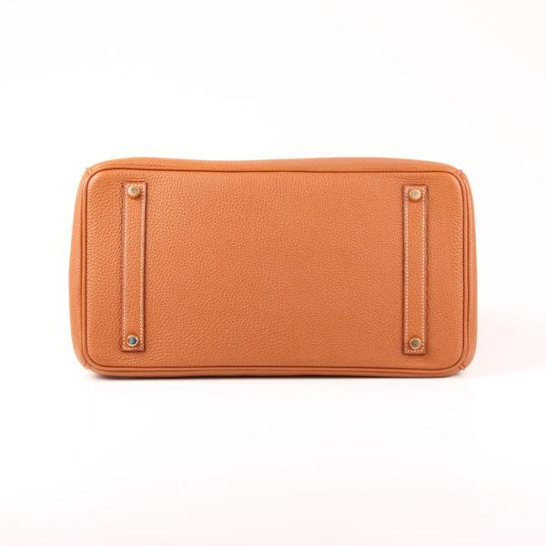 Image de la base del bolso hermès birkin 35 en piel camel