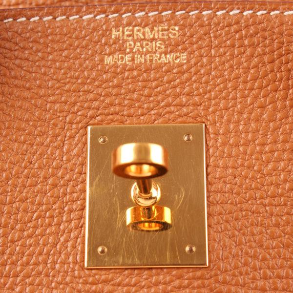 Imagen de la marca del bolso hermes birkin 35 togo tostado