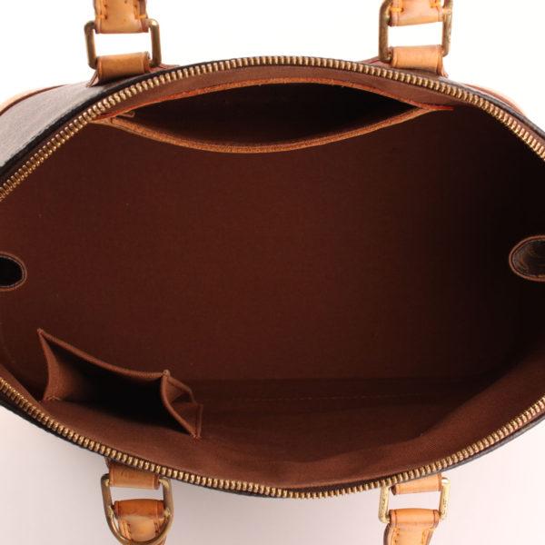Imagen del forro del bolso louis vuitton alma pm monogram