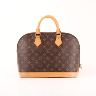 Imagen frontal del bolso louis vuitton alma pm monogram
