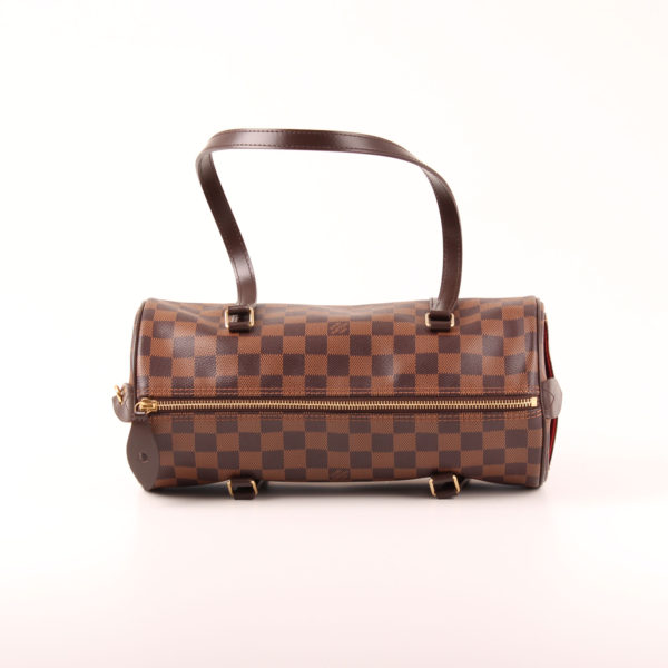 Imagen de la cremallera del bolso louis vuitton papillon damero ébano marrón