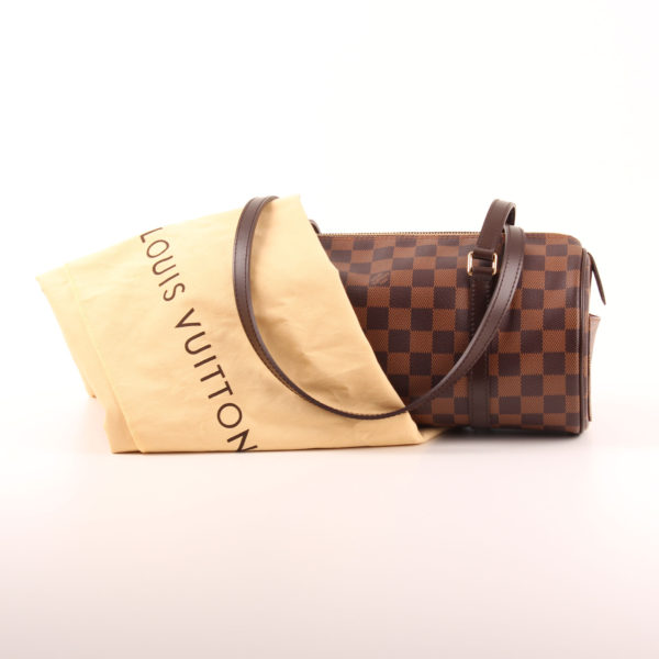 Imagen del bolso louis vuitton papillon damero ébano marrón con funda guardapolvo