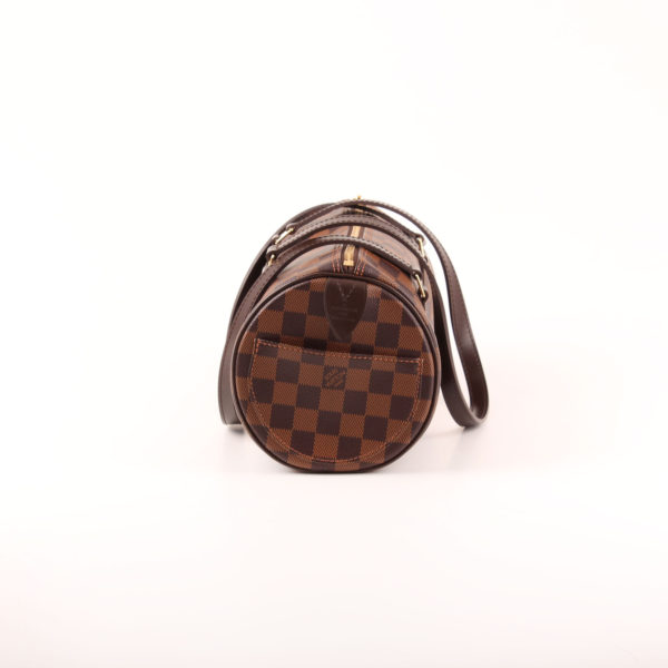 Imagen del lado 2 del bolso louis vuitton papillon damero ébano marrón