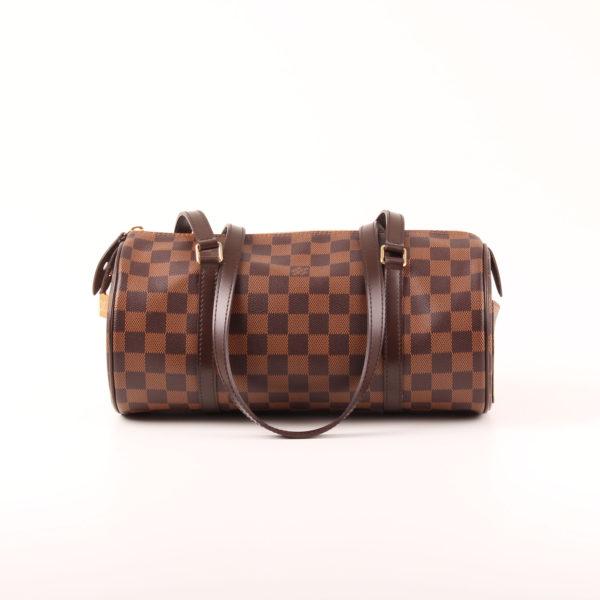 Imagen trasera del bolso louis vuitton papillon damero ébano marrón
