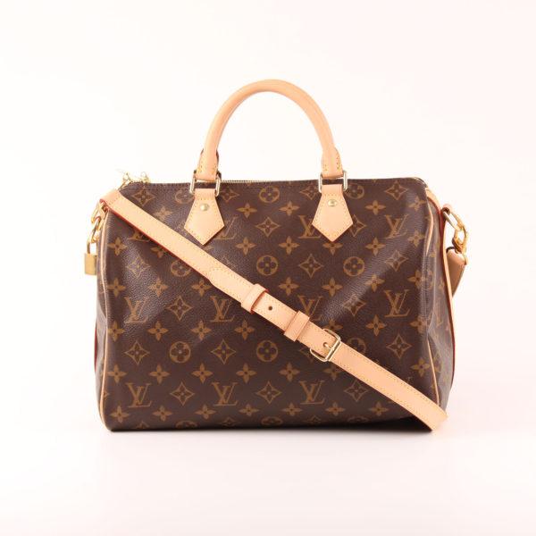 Imagen del bolso louis vuitton speedy 30 monogram piel natural con bandolera