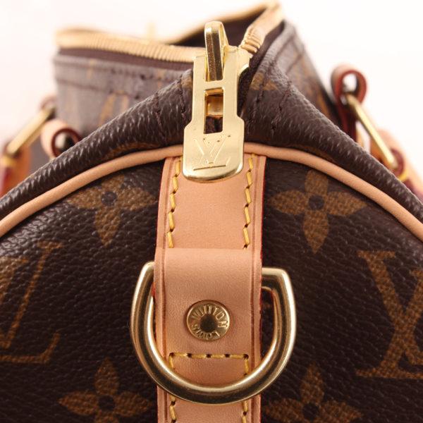 Imagen de la cremallera del bolso louis vuitton speedy 30 monogram bandolera piel natural