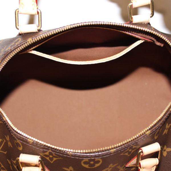 Imagen del forro del bolso louis vuitton speedy 30 monogram bandolera piel natural