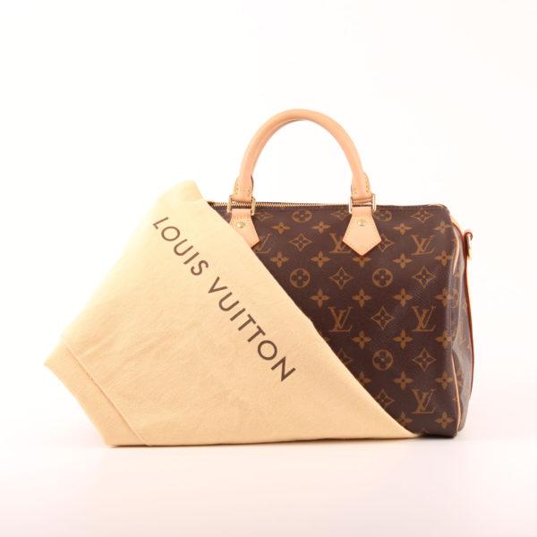 Imagen del bolso louis vuitton speedy 30 monogram bandolera piel natural con funda guardapolvo