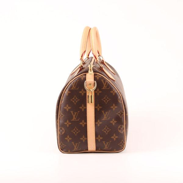 Imagen del lado 1 del bolso louis vuitton speedy 30 monogram bandolera piel natural