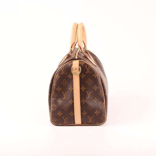 Imagen del lado 2 del bolso louis vuitton speedy 30 monogram bandolera piel natural