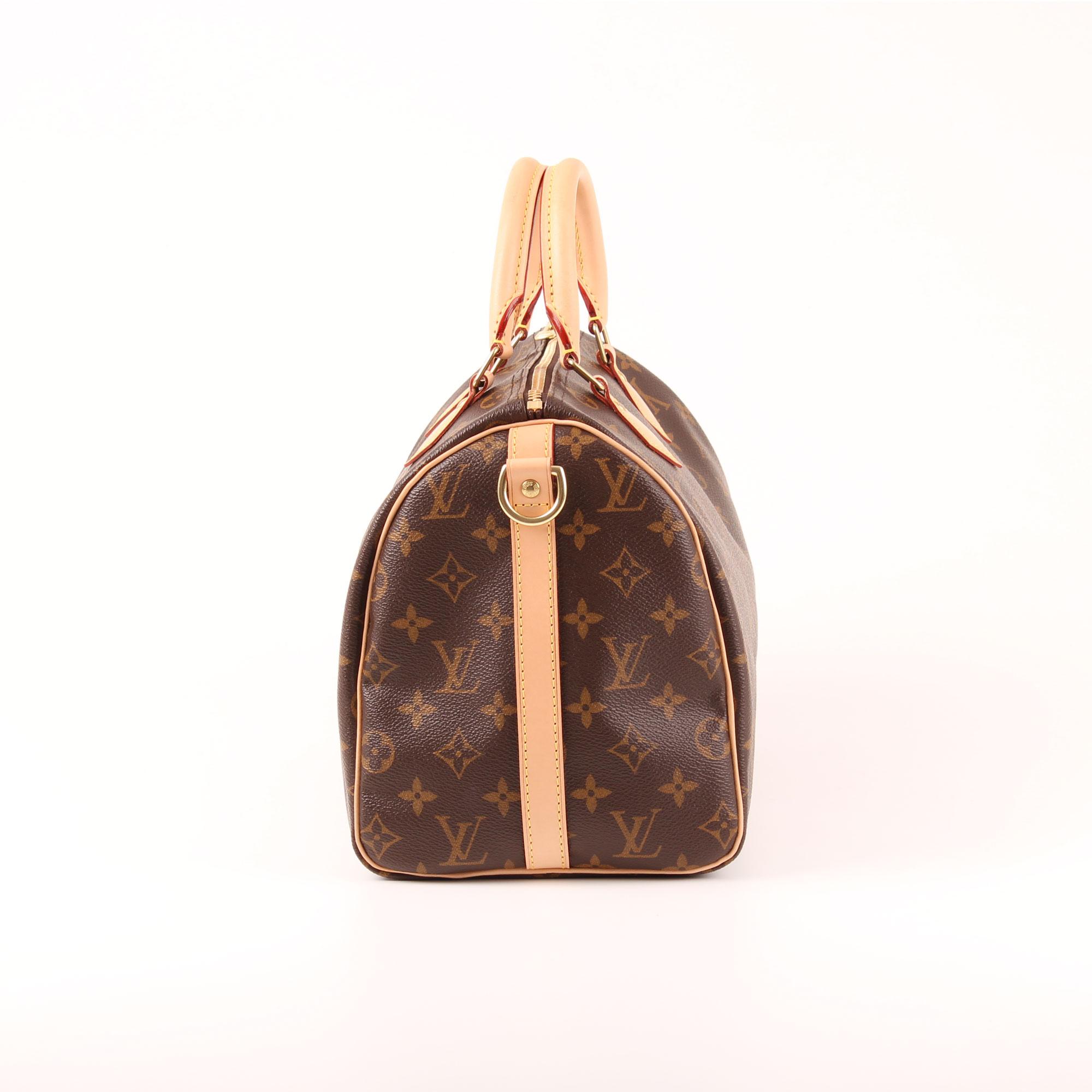 Imagen del lado 2 del bolso louis vuitton speedy 30 monogram bandolera piel  natural d4212a8ad575e
