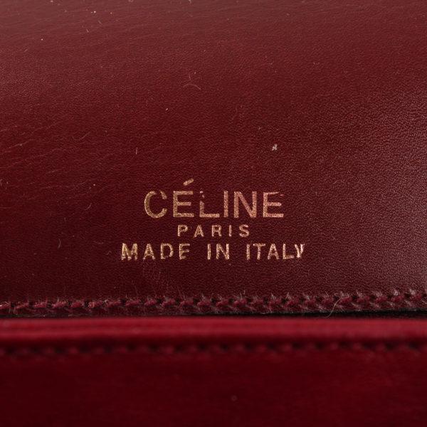 Imagen de la marca del bolso céline vintage box calèche burdeos