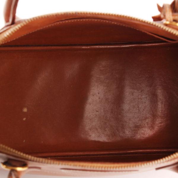 Imagen del forro del bolso hermès bolide piel marrón