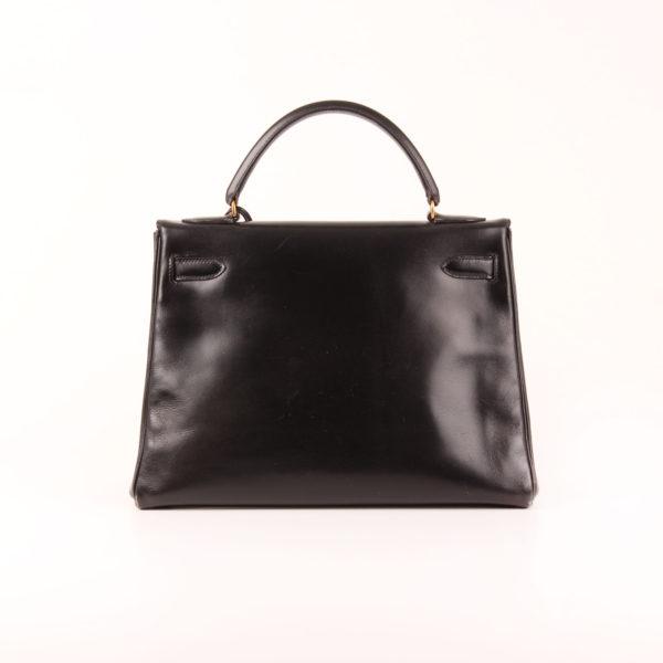 Imagen trasera del bolso Hermès Kelly 32 box calf negro