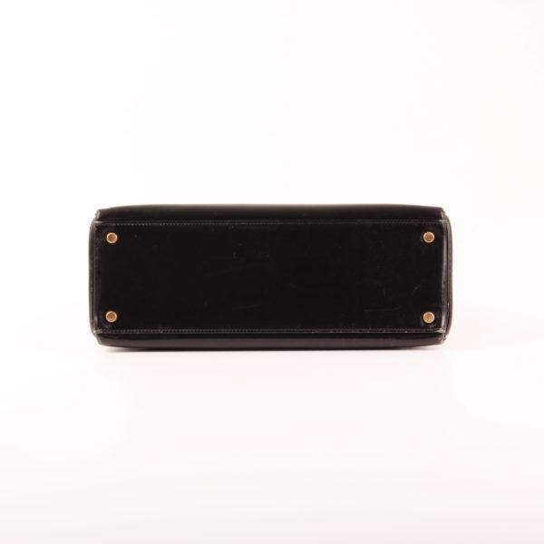Imagen de la base del bolso hermes kelly 32 en piel negro