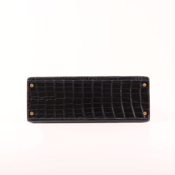 Imagen de la base del bolso hermès kelly 35 en piel cocodrilo porosus