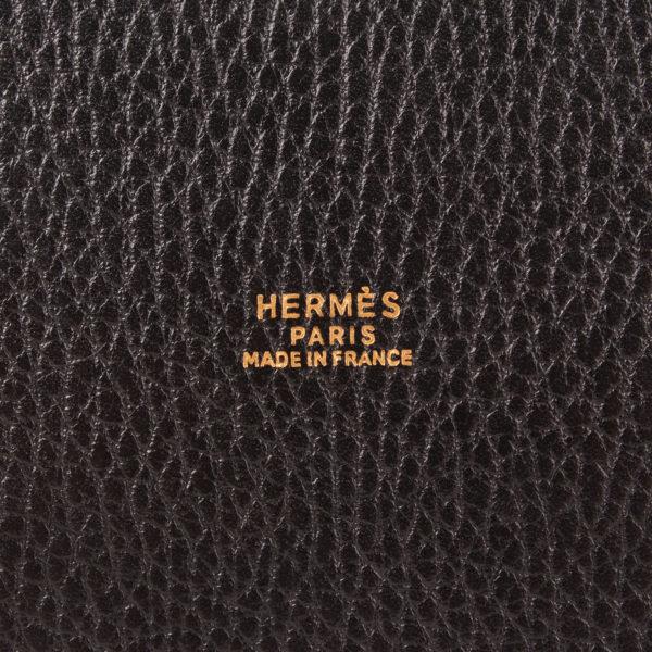Imagen de la marca del bolso hermès market bucket bag togo negro