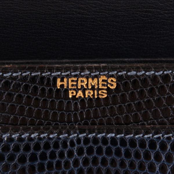 Imagen de la marca del bolso hermès piano azul ocean lagarto