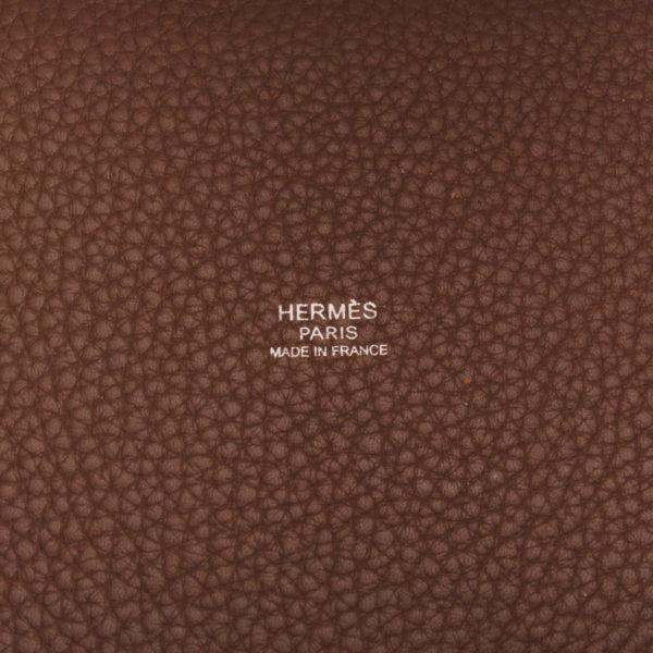Imagen de la marca del bolso hermès picotin mm lock taupe marrón