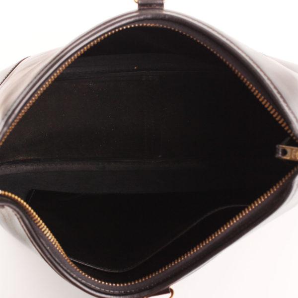 Imagen del forro del bolso hermès trim II box calf negro
