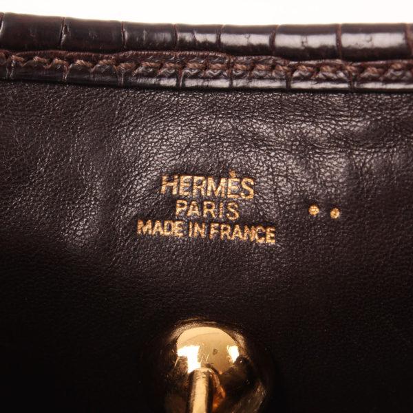 Imagen de la marca del bolso hermes vespa mini cocodrilo mate nilo marrón