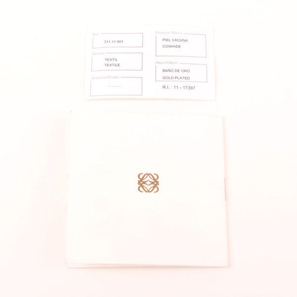 Imgen 1 de la tarjeta de autenticidad del bolso loewe amazona 28 edición especial suede negro cadena oro