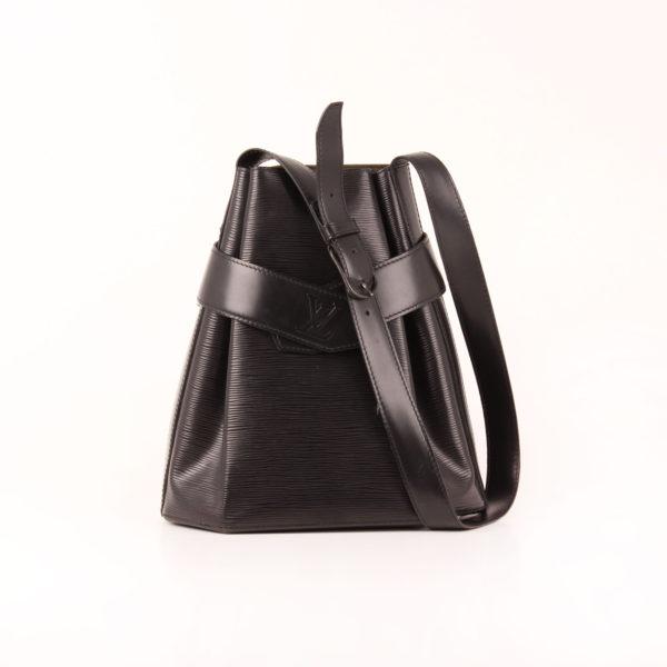 Imagen del bolso louis vuitton d'épaule tote épi negro con bandolera