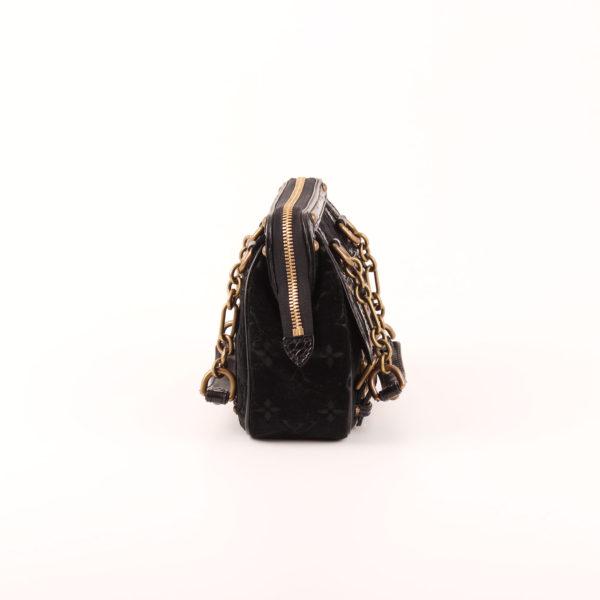 Imagen del lado 1 del bolso louis vuitton gracie velvet alligator terciopelo