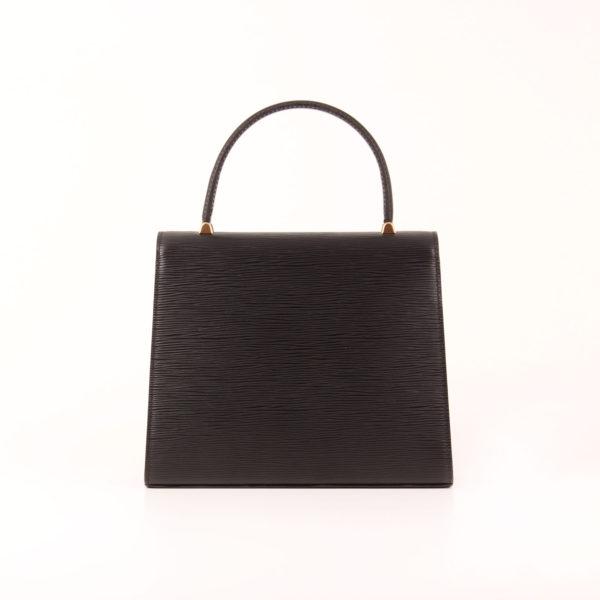 Imagen trasera del bolso louis vuitton malesherbes épi negro