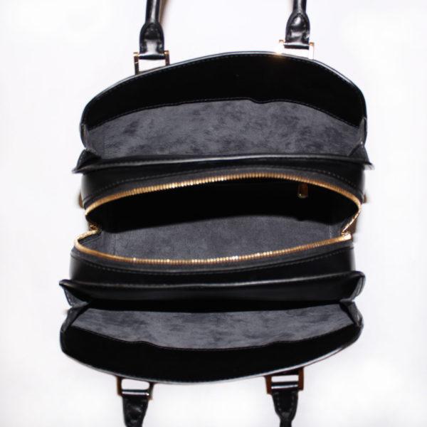 Imagen del interior del bolso louis vuitton pont neuf épi negro