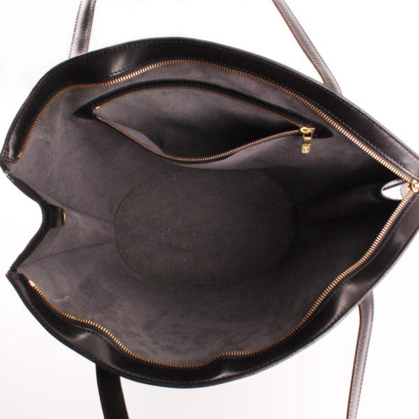 Imagen del forro del bolso louis vuitton saint jacques gm épi negro