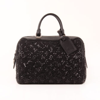 Imagen frontal del bolso louis vuitton speedy sunshine express monogram lentejuelas