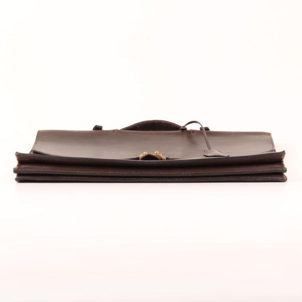 Imagen de la base de hermès cartera de mano sac à dépêche box calf marrón