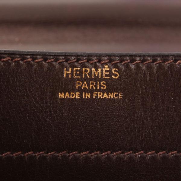 Imagen de la marca de hermès cartera de mano sac à dépêche box calf marrón