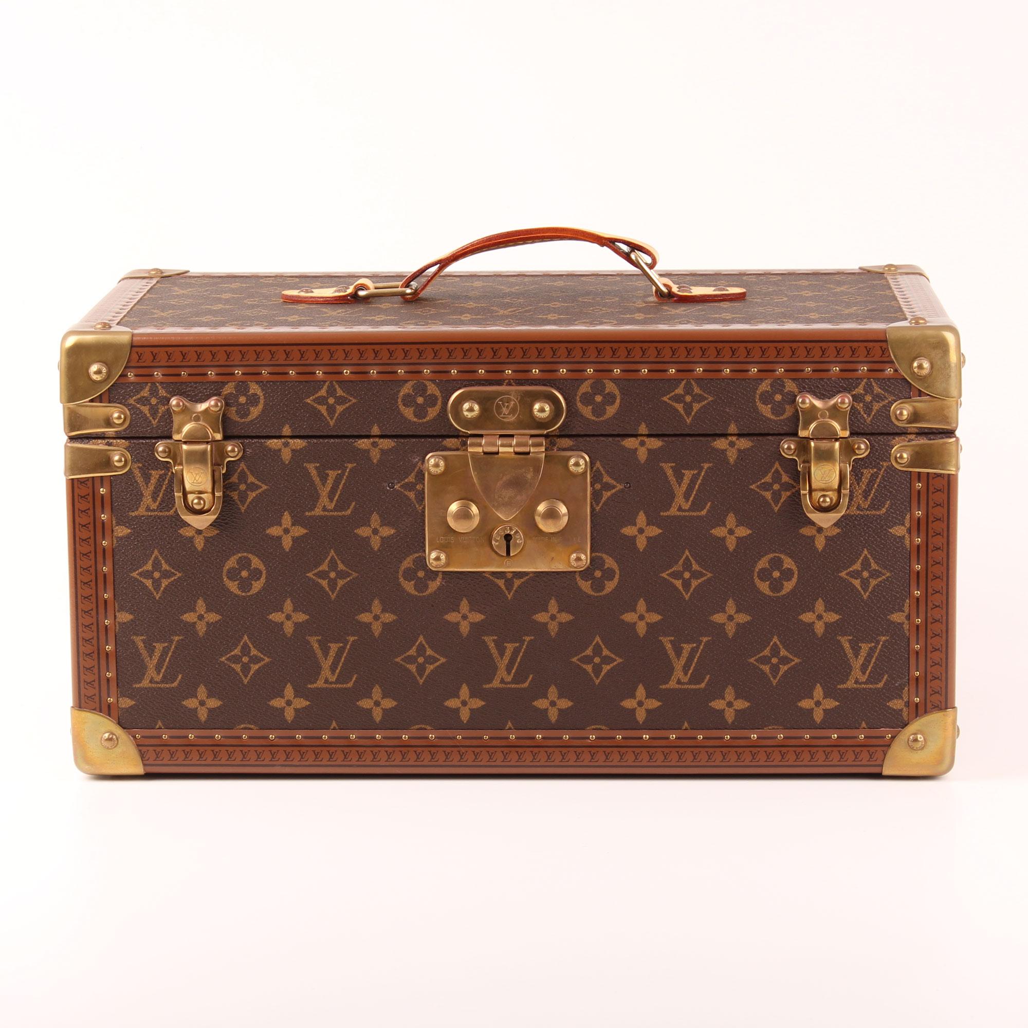 e5da0fc420a1 Front image of louis vuitton trunk vanity case monogram vintage pharmacy box