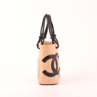 ef562a37b164 Chanel Cambon Bag Tote Small Beige Black I CBL Bags