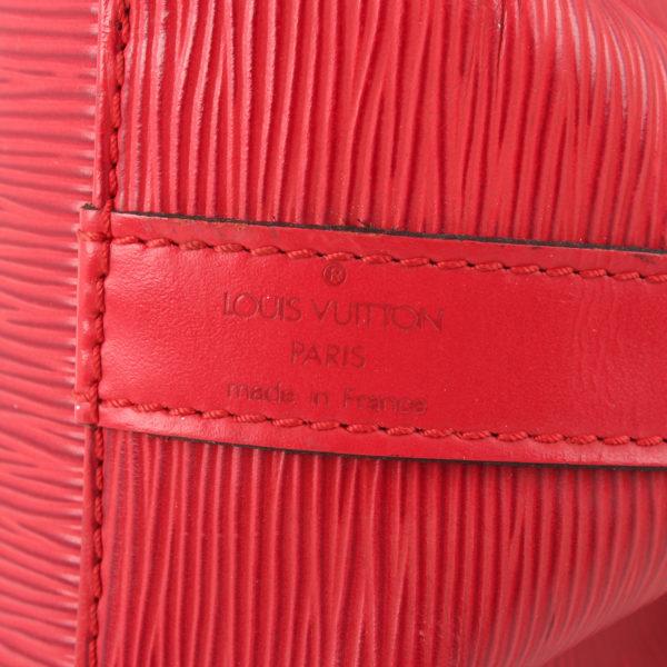 Imagen de la marca del bolso bandolera louis vuitton noé épi petit rojo