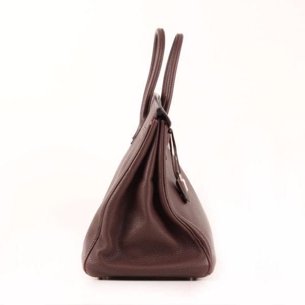 Imagen del lado 1 del bolso hermès birkin 40 piel granulada