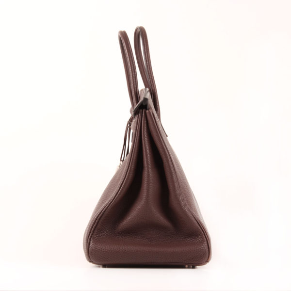 Image del lado 2 del bolso hermès birkin 40 togo terre