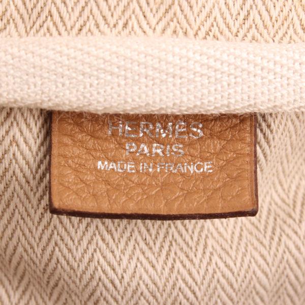 Imagen de la marca del bolso hermès victoria II 35 clemence natural