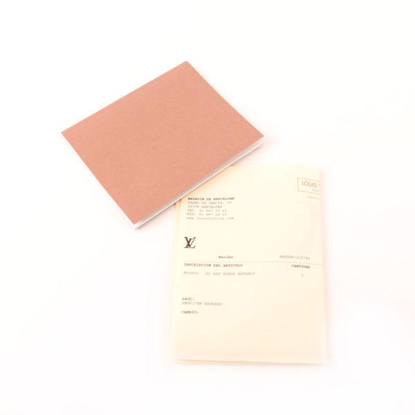 Imagen de la factura del bolso louis vuitton sofia coppola mm suede asphalt