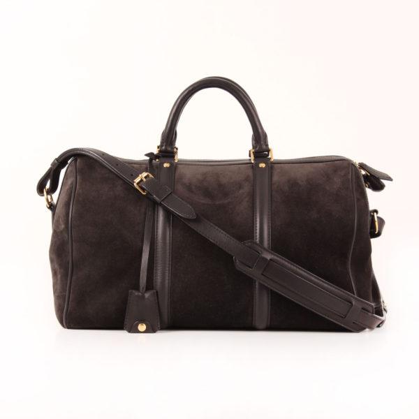 Imagen del bolso louis vuitton sofia coppola mm suede asphalt negro con bandolera
