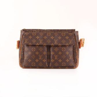 Imagen frontal del bolso louis vuitton viva-cité gm monogram